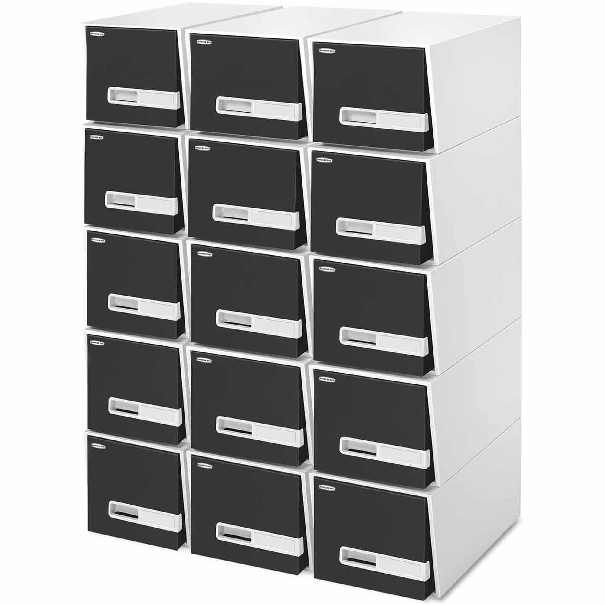 """Bankers Box Stor/Drawer Premier Extra Space Savings Storage Drawers, 24""""Legal, Black, 5-Count"""