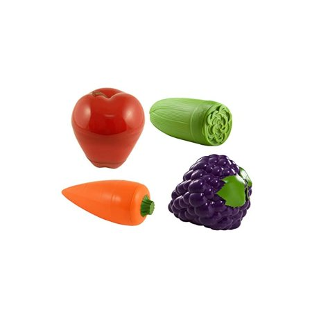 390AS-4 Fruit & Veggie, Set of 4 snack containers, Regular, Red/Green/Orange/Purple