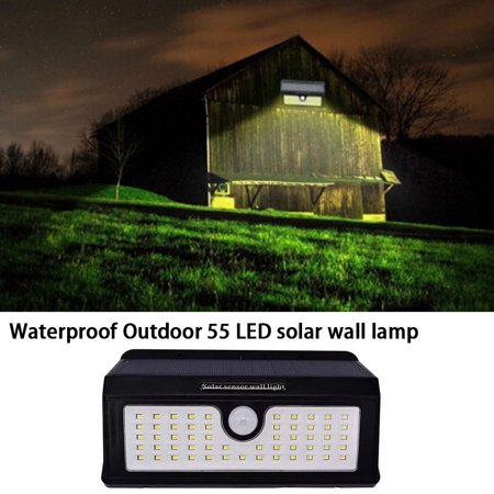 AIHOME Waterproof Outdoor Motion Activated Security Lighting 55 LED Bright Solar Powered Light for Patio, Deck, Yard, Garden - image 4 of 9