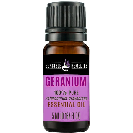 Sensible Remedies Geranium 100% Therapeutic Grade Essential Oil, 5 mL (0.167 fl (Geranium Shimmer)