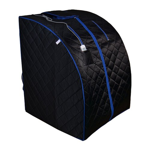 ALEKO Personal Folding Portable Infrared Sauna, Black With Blue Trim Color by ALEKO
