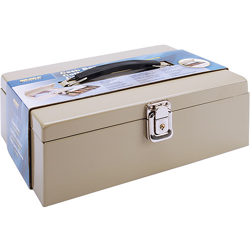 "MMF Industries Metal Locking Cashbox, 11"" x 4"" x 7-3/4"""