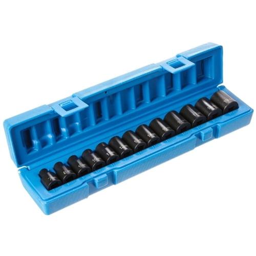 "Grey Pneumatic 3/8"" Drive 13-Piece 12-Point Standard Length Metric Socket Set 1203M"