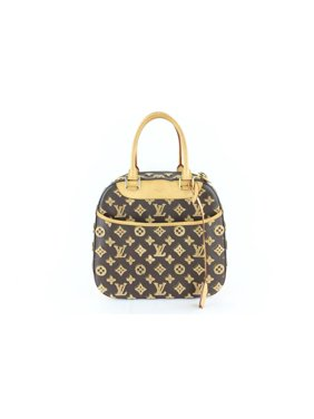 ba6566b77df Product Image Louis Vuitton Deauville Limited Monogram Tuffetage Cube  Caramel 6lz1130 Brown Coated Canvas Satchel
