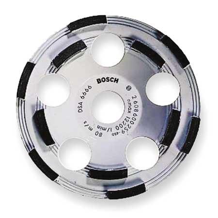 BOSCH DC510 Segment Cup Wheel,Diamond,Double,5x7/8