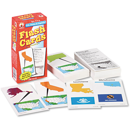 Carson-Dellosa Publishing Flash Cards, U.S. States and Capitals, 109pk