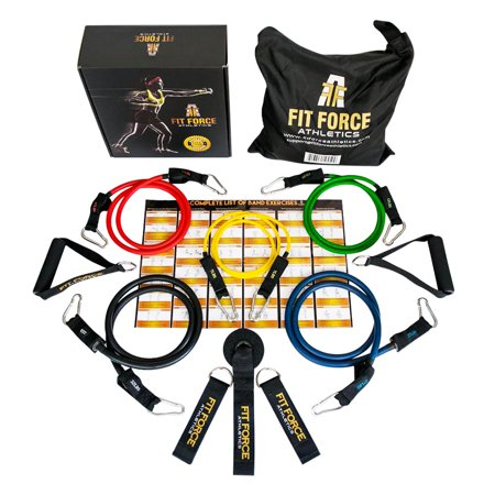 #1 Exercise Bands & Resistance Bands Set 15Pcs - Home Gym & Exercise Equipment For Full Body Workout - Stretch Bands For Physical Therapy, Rehab, Crossfit - Great Gift Idea (Outside Workout Ideas)