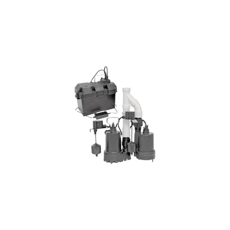 Superior Pump Decko Products 92941 12v Sump Kit W Bat Backup