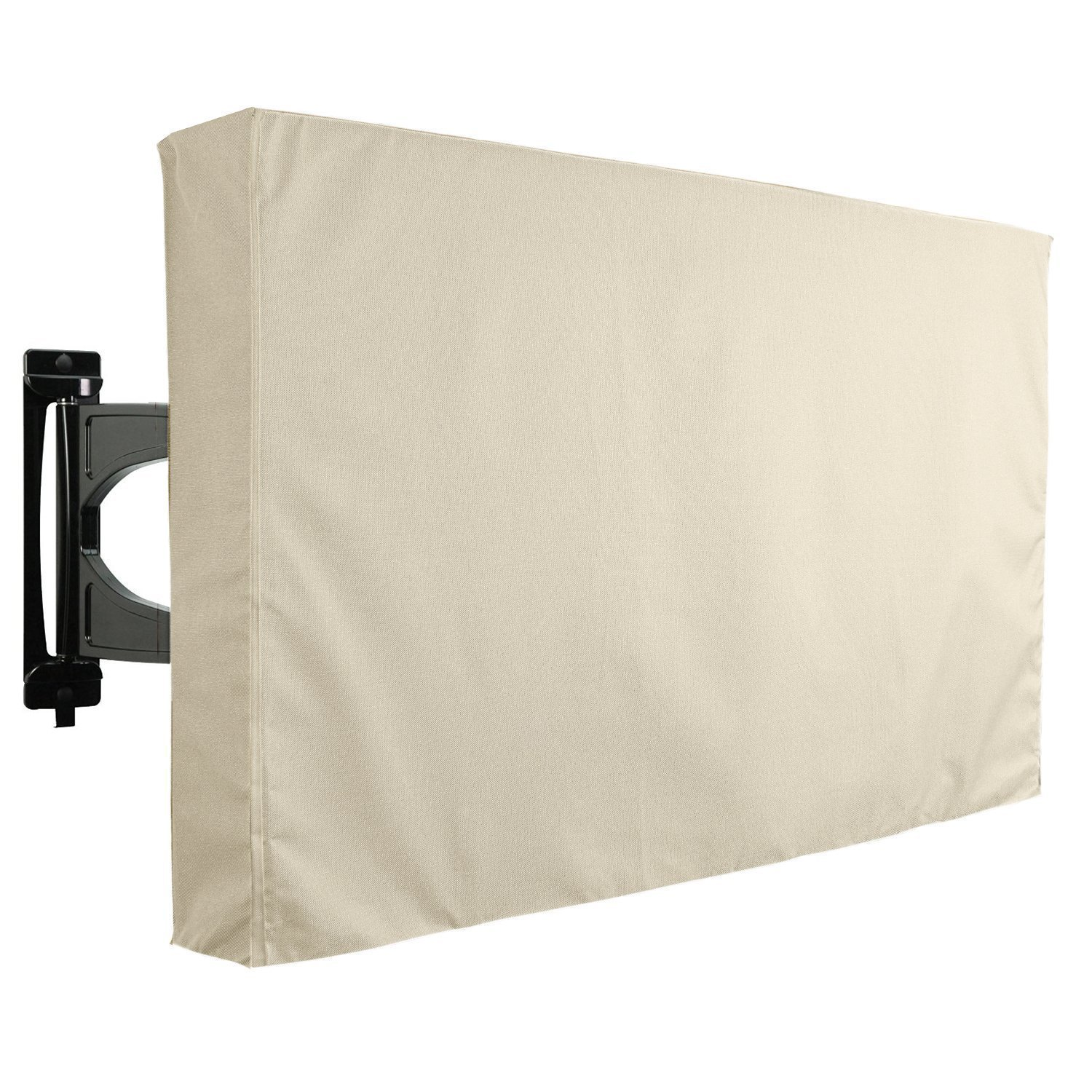 36-38 TV Weatherproof Cover Waterproof and Dust Resistant TV Outdoor Cover Black Universal Television Protector for Flat Screens