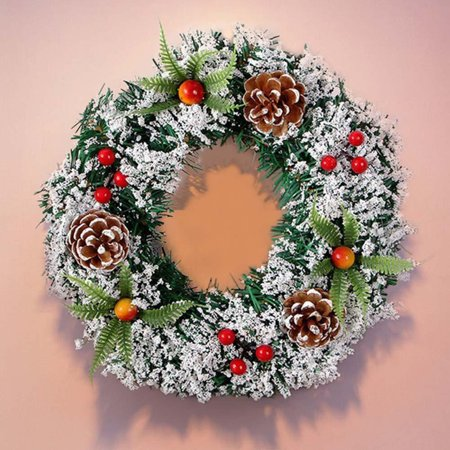 Wall Hanging Christmas Wreath Decoration For Xmas Party Door
