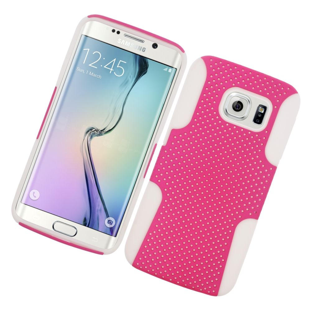 Insten Astronoot Hard Dual Layer TPU Case For Samsung Galaxy S6 Edge - Hot Pink/Black - image 3 of 3