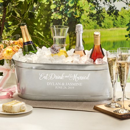 Image of Personalized Eat, Drink & Be Married Beverage Tub