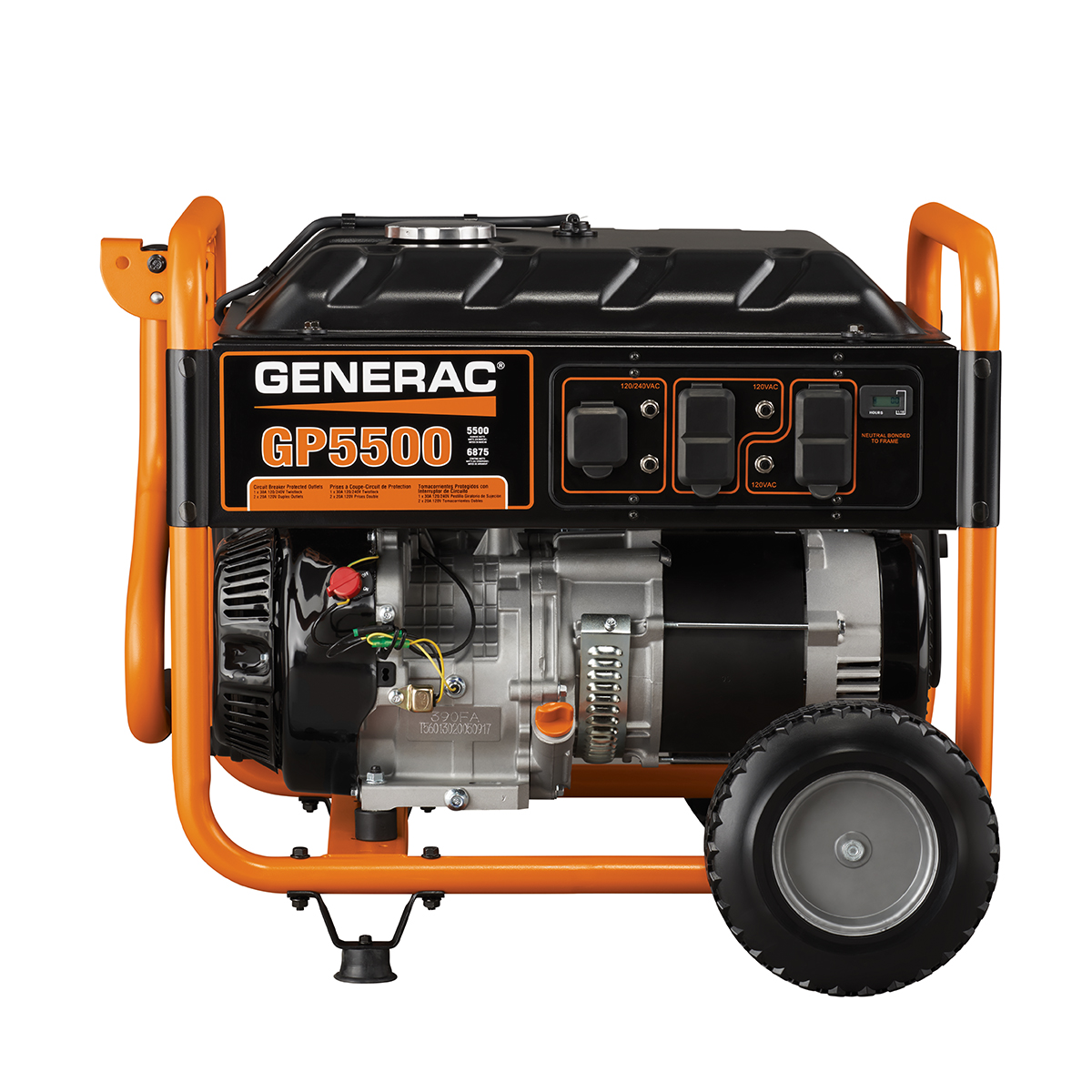 generac 5939 5500 watt gasoline powered portable generator 49 rh walmart com Generator Installation Diagram Generator Installation Diagram