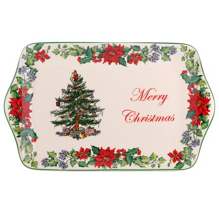 Christmas Tree 2016 Annual Edition Dessert Tray, Introduced in 2016 By Spode ()
