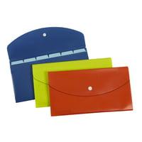 Pendaflex Slimline 7 Pocket File, Check Size, Assorted Colors