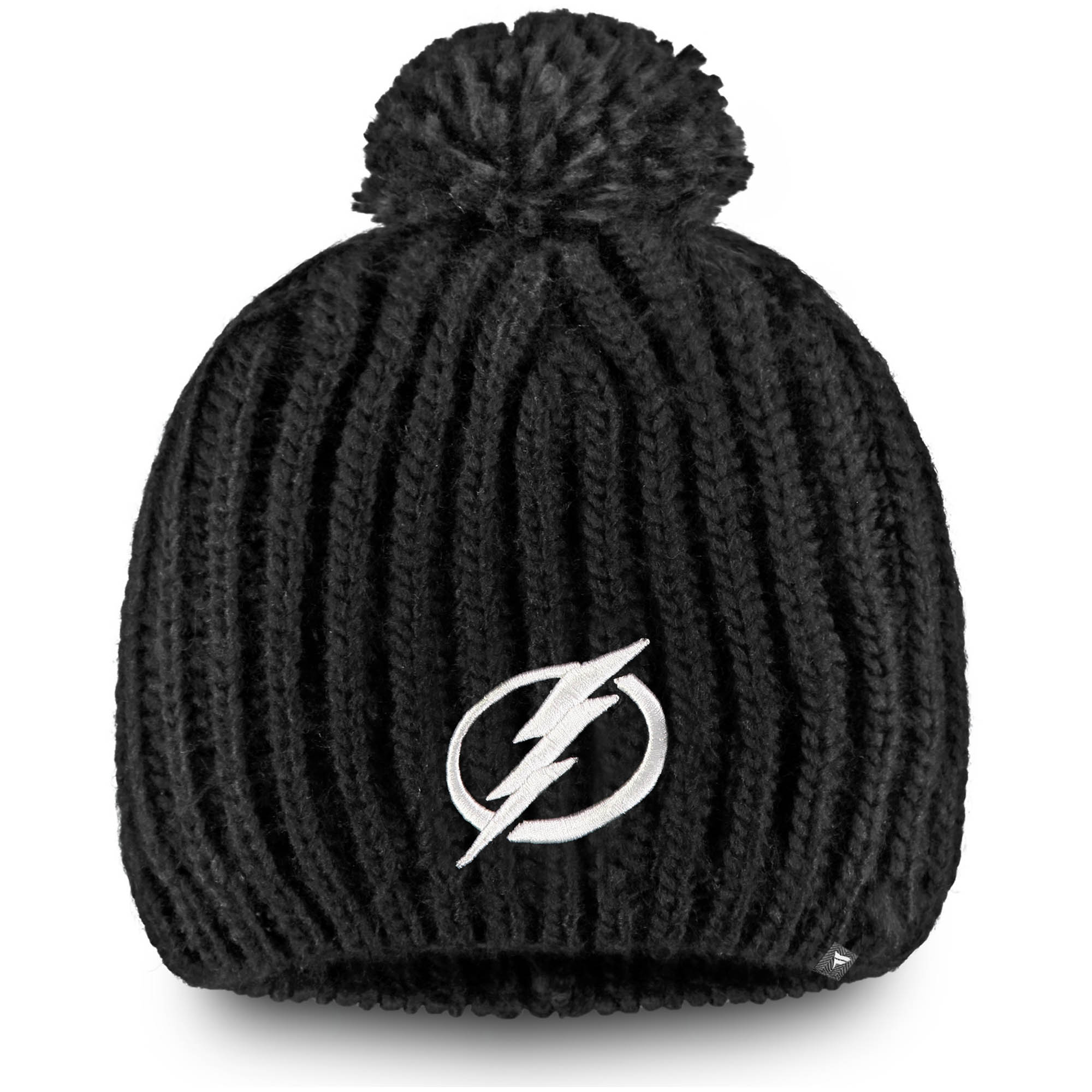 Tampa Bay Lightning Fanatics Branded Women's Iconic Knit Beanie with Pom - Black - OSFA
