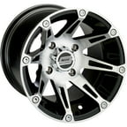 Moose Racing 387X Wheel (Front) 12X7 Machined W/Black Fits 08-12 Kawasaki Teryx 750 4x4