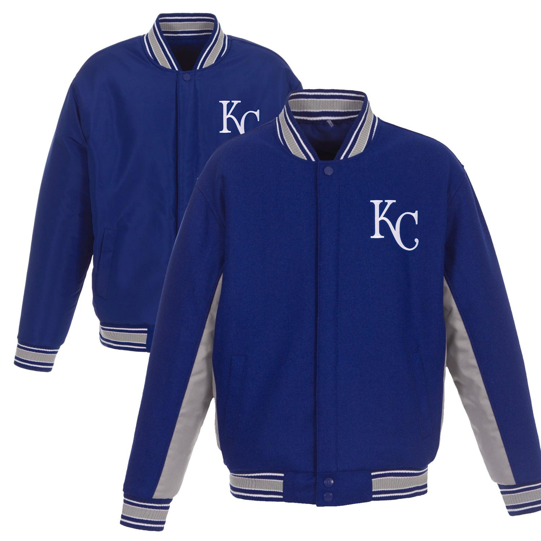 Kansas City Royals JH Design Wool Poly-Twill Accent Full Snap Jacket - Royal