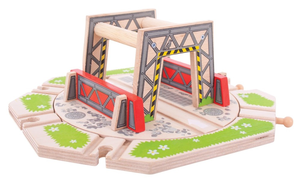 Bigjigs Toys Industrial Turntable Wooden Train Accessory by Big Jigs Toys