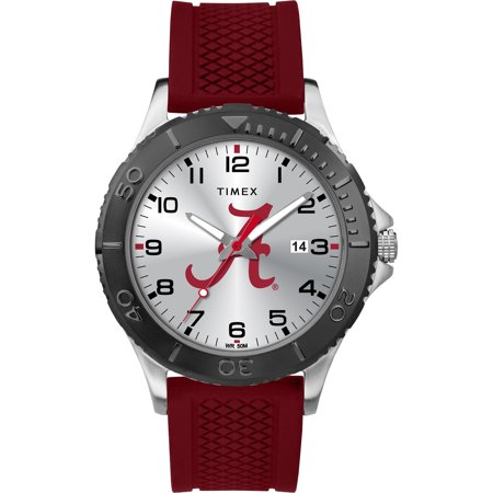 Timex - NCAA Tribute Collection Gamer Crimson Men's Watch, University of Alabama Crimson Tide