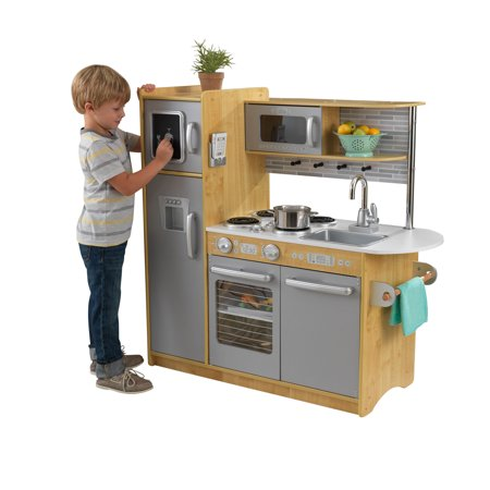 - KidKraft Uptown Natural Wooden Play Kitchen