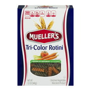 (3 Pack) Mueller's Tri-Color Rotini Pasta, 12.0 OZ