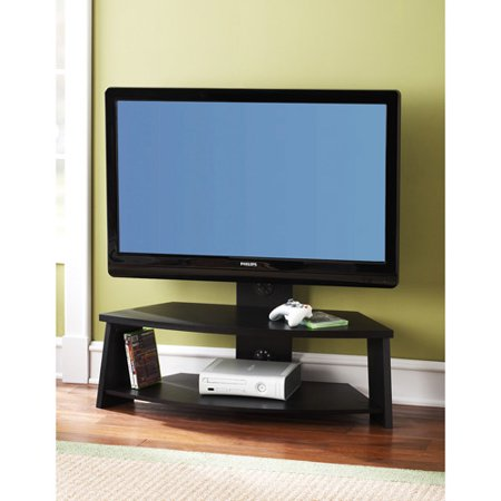 mainstays 42in lcd tv stand w mount blk