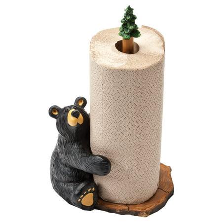 Brawnie Bruin Bear Paper Towel Holder - Rustic Kitchen Decor