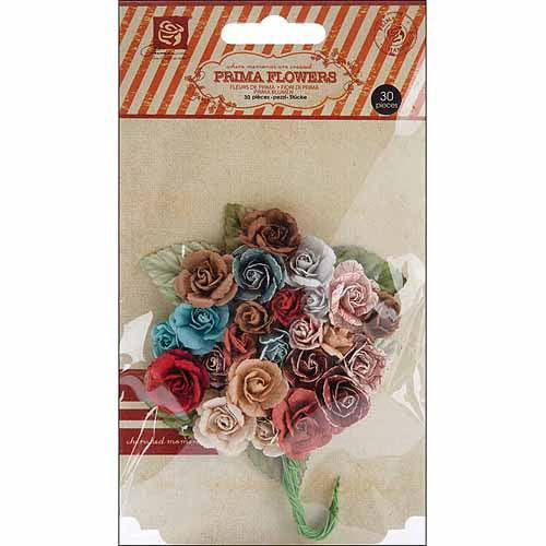 """En Francais Handmade Paper Flowers, Charme Rose, .75"""", 30/pkg"""