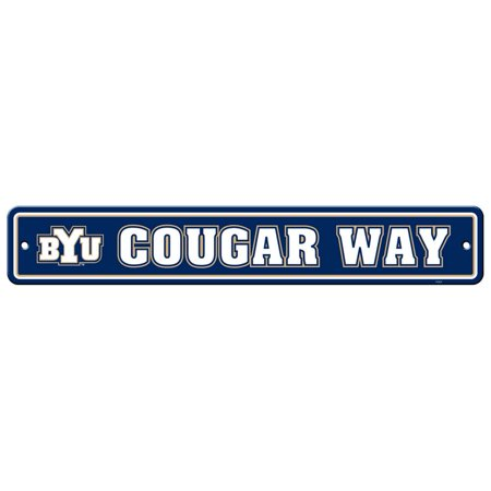Byu Cougars Plastic Street Sign