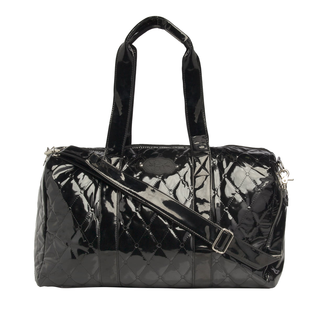 Sugar Lulu 19 Inch Patent Leather Duffle Bag For Kids Travel Women Sleepover Bags S Cute