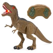 Best Choice Products Kids Remote Control T-Rex Walking Dinosaur Toy w  Lights, Sounds Brown by Best Choice Products