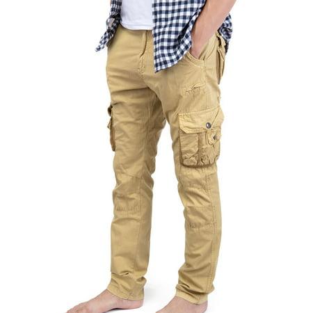 Women's Khaki Cargo Pants Vintage Paratrooper Style Cargo Pant