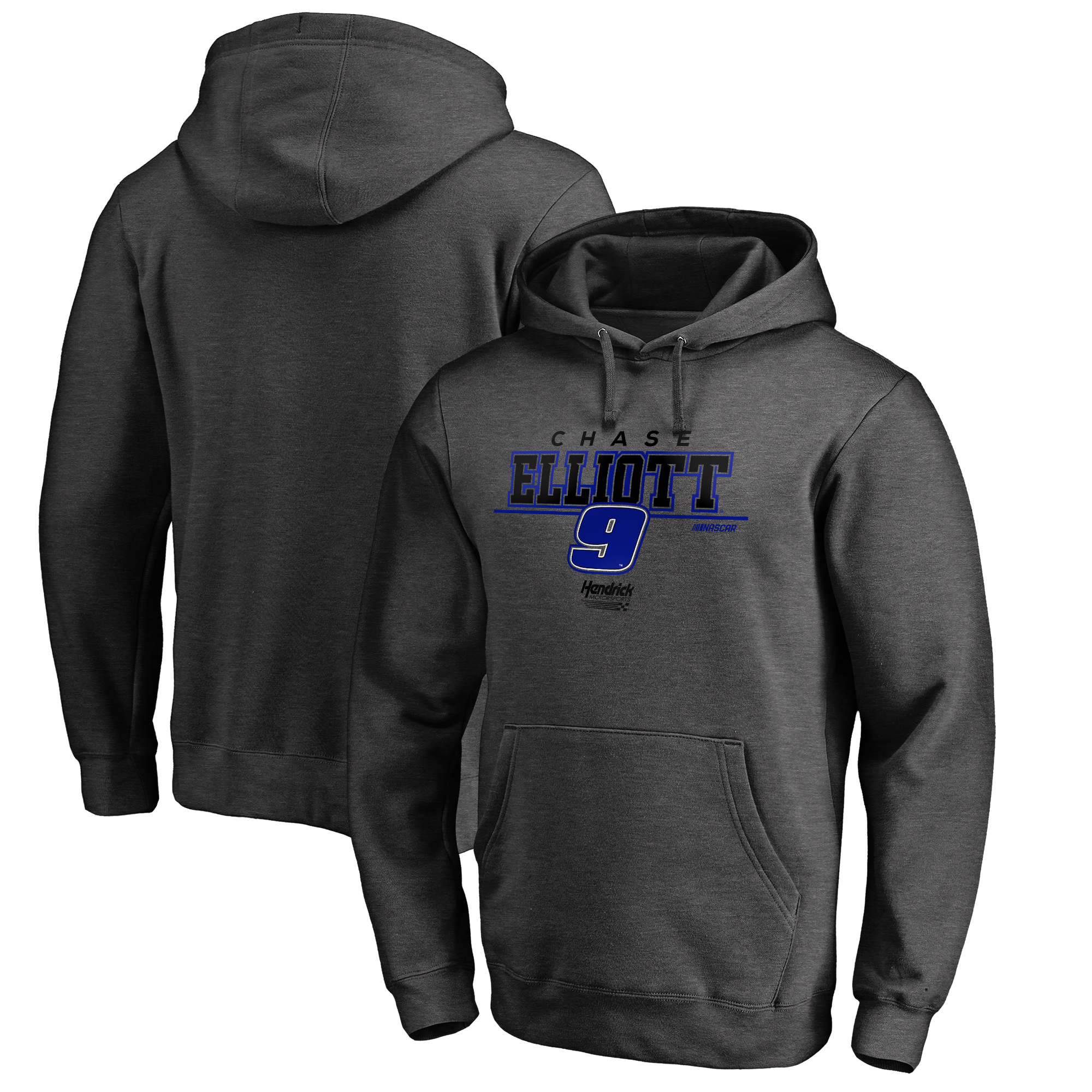 Chase Elliott Fanatics Branded Stealth Pop Verbiage Pullover Hoodie - Heathered Charcoal