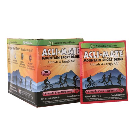 Acli-Mate Mountain Sport Drink Altitude & Energy Aid Packets Colorado Cran-Raspberry0.46 oz. x 30 pack(pack of 1)
