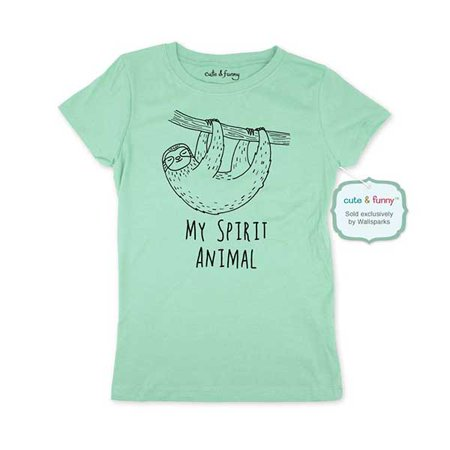 Sloth My Spirit Animal - Youth Young Girls Juniors Slim Fit Soft Tee Shirt - Funny Trendy Tee](Naughty Young School Girls)