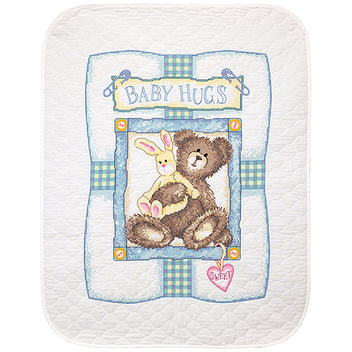 "Dimensions Baby Hugs ""bunny'n Bear"" Quil"