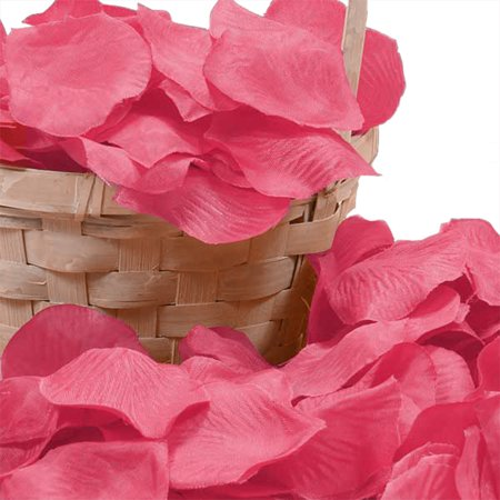Hot Pink Bulk 400 pcs Silk Flower Rose Petals