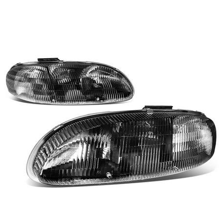 For 1995 to 2001 Chevy Lumina / Monte Carlo Headlight Black Housing Clear Corner Headlamp 96 97 98 99 00