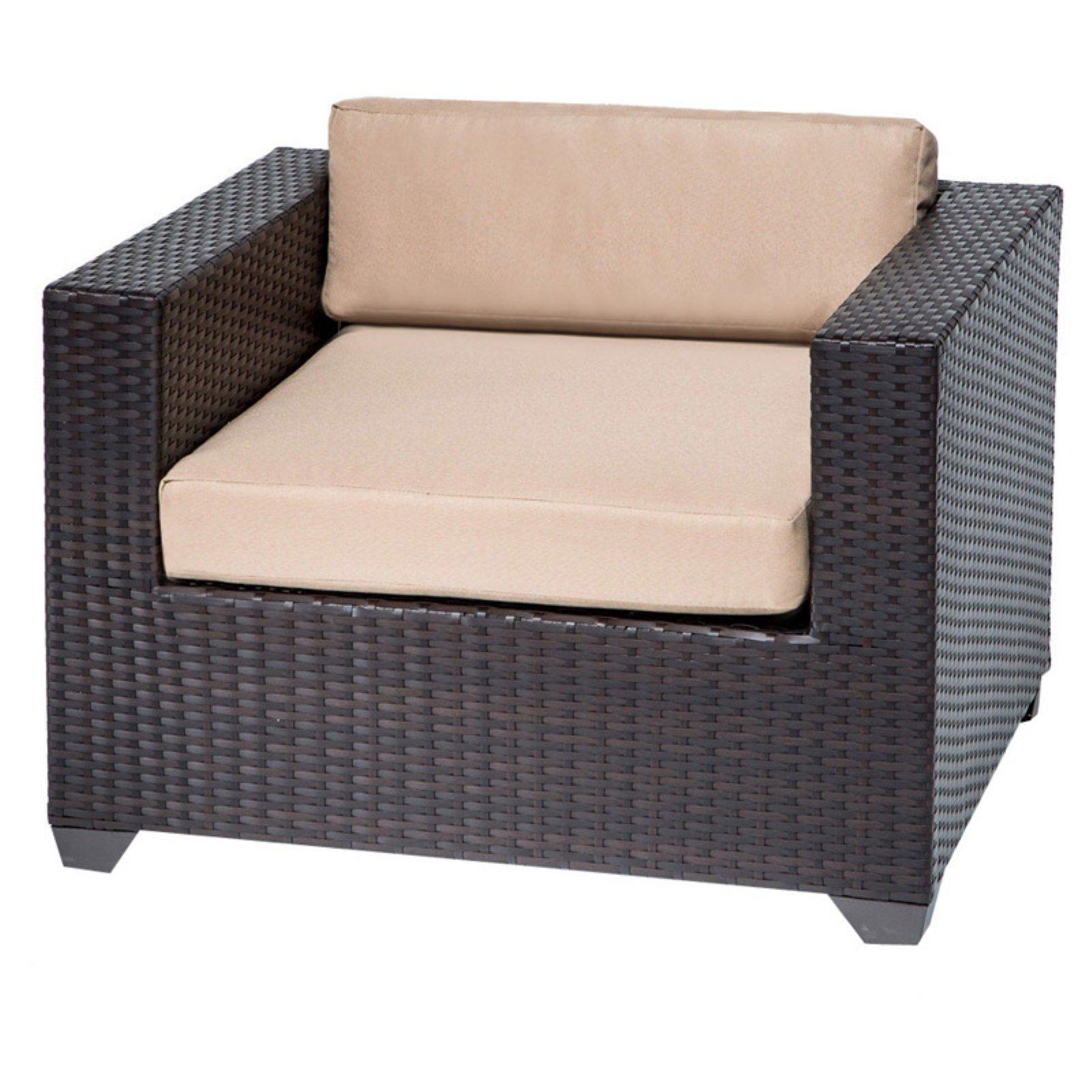 TK Classics Monterey Wicker Outdoor Club Chair