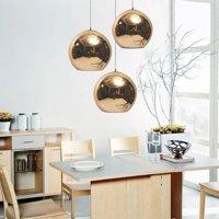 15-45cm Glass Mirror Ball Ceiling Pendant Dining Light Modern Lamp Chandelier