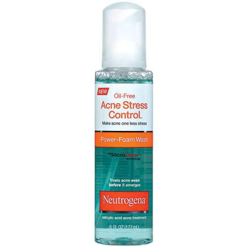 Neutrogena Oil-Free Acne Stress Control Power-Foam Wash, 6 oz