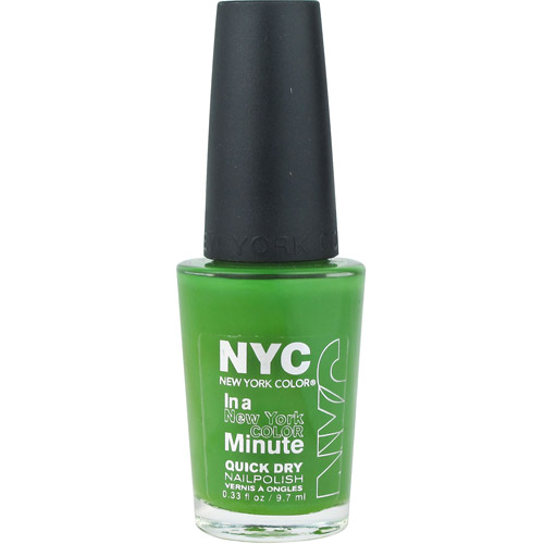 New York Color In a New York Color Minute Quick Dry Nail Polish, High Line Green 0.33 oz
