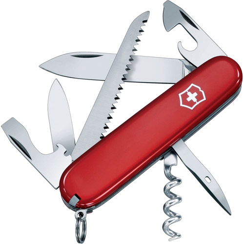 Victorinox Swiss Army Camper Knife, Red
