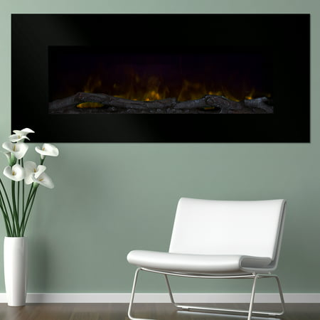 Northwest 50 inch Wall Mounted Electric Fireplace with Color Changing LED, (Black Electric Mount)