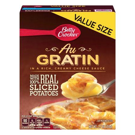 (2 Pack) Betty Crocker Au Gratin Potatoes Value Size, 7.7