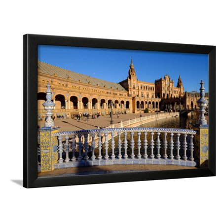 Plaza De Espana, Built for the Ibero-American Exposition of 1929, Seville, Andalucia, Spain Framed Print Wall Art By Carlo Morucchio