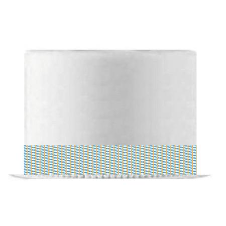 Yellow Blue Interlace Edible Cake Decoration Ribbon -6 Slim Strips](Edible Ribbon)