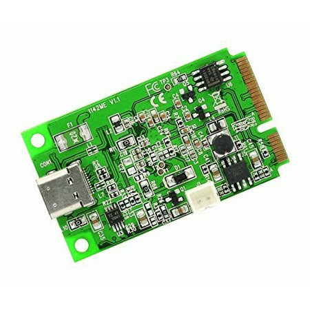 Io Crest Mini Pci Express 2 0 To Usb 3 1 Type C Gen 2 Card  Asm1142 Chipset Other Components  Si Mpe20214