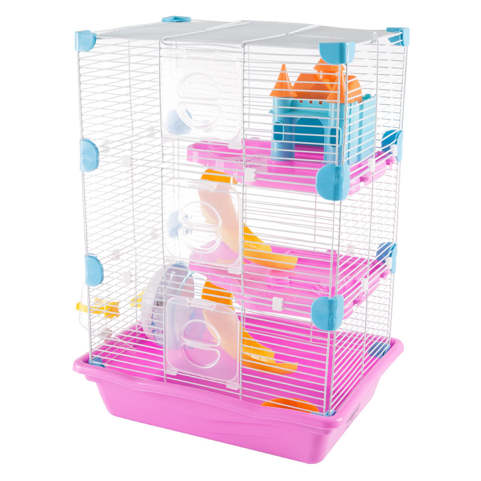 Petmaker 3 Story Hamster Cage Habitat with Attachments and Accessories